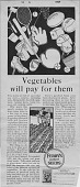 view Vegetables will pay for them [black & white advertisement; tear sheet] digital asset: Vegetables will pay for them [black & white advertisement; tear sheet].