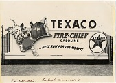 view Texaco Fire-Chief gasoline ... best run for the money! [black & white advertisement; tear sheet] digital asset: Texaco Fire-Chief gasoline ... best run for the money! [black & white advertisement; tear sheet].