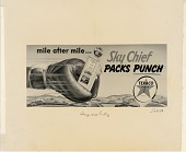 view mile after mile ... Sky Chief packs punch. [black & white advertisement; tear sheet] digital asset: mile after mile ... Sky Chief packs punch. [black & white advertisement; tear sheet].