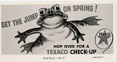 view Get the jump on spring! Hop over for a Texaco check-up. [black & white advertisement; tear sheet] digital asset: Get the jump on spring! Hop over for a Texaco check-up. [black & white advertisement; tear sheet].