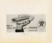view For a real lift get a Texaco check-up! [black & white advertisement; tear sheet] digital asset: For a real lift get a Texaco check-up! [black & white advertisement; tear sheet].