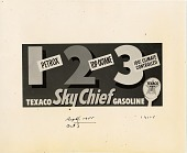 view 1 Petrox 2 Top Octane 3 100% Climate Controlled / Texaco Sky Chief Gasoline [black & white advertisement; tear sheet] digital asset: 1 Petrox 2 Top Octane 3 100% Climate Controlled / Texaco Sky Chief Gasoline [black & white advertisement; tear sheet].