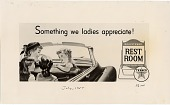 view Something we ladies appreciate! [black & white advertisement; tear sheet] digital asset: Something we ladies appreciate! [black & white advertisement; tear sheet].
