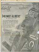 view [Prince Albert Tobacco advertisement depicting Plains Indians : proof] digital asset: [Prince Albert Tobacco advertisement depicting Plains Indians : proof], 1913.