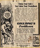 view Goulding's Fertilizer advertisement [proof] digital asset: Goulding's Fertilizer advertisement [proof], 1909.
