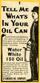 view Tell Me / What's / in Your / Oil Can [black & white advertisement; tear sheet] digital asset: Tell Me / What's / in Your / Oil Can [black & white advertisement; tear sheet].