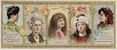 view The Ladies of All Nations Use Hall's Vegetable Sicilian Hair Renewer [printed card] digital asset: The Ladies of All Nations Use Hall's Vegetable Sicilian Hair Renewer [printed card].