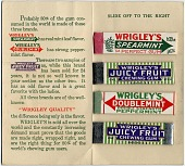 view [Samples of Wrigley's three leading brands of chewing gum : trade card with sticks of gum] digital asset: [Samples of Wrigley's three leading brands of chewing gum : trade card with sticks of gum].