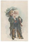 """view """"Little Santa Claus"""" [sic]. Art Supplement, Philadelphia Press, Sunday, Dec. 19th, 1887 [color photomechanical print] digital asset: """"Little Santa Claus"""" [sic]. Art Supplement, Philadelphia Press, Sunday, Dec. 19th, 1887 [color photomechanical print]."""