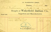 view Receipt for rattan furniture digital asset: Receipt for rattan furniture ca. 1888.