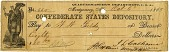view Confederate States Depository Check digital asset: Confederate States Depository Check.
