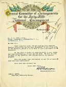 view General Committee of Arrangements for the 45th National Encampment [letter] digital asset: General Committee of Arrangements for the 45th National Encampment [letter].