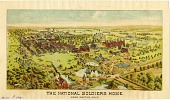 view National Soldiers Home near Dayton, Ohio [color lithograph] digital asset: National Soldiers Home near Dayton, Ohio [color lithograph].