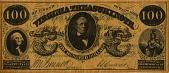 view [Commemorative One Hundred Dollar Bill, Virginia : paper money,] digital asset: [Commemorative One Hundred Dollar Bill, Virginia : paper money,] 1961-1965.