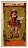 view MEXICO [cartoon of a figure]. [Color cigarette card] digital asset: MEXICO [cartoon of a figure]. [Color cigarette card].