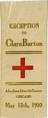 view Reception / to / Clara Barton / Abraham Lincoln Center / Chicago / May 13, 1910 [ribbon] digital asset: Reception / to / Clara Barton / Abraham Lincoln Center / Chicago / May 13, 1910 [ribbon].