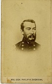 view Maj. Gen. Philip H. Sheridan [albumen carte-de-visite print] digital asset: Maj. Gen. Philip H. Sheridan [albumen carte-de-visite print].