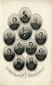 view Confederate Generals [engraving] digital asset: Confederate Generals [engraving].