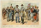 view Confederate Uniforms [color print] digital asset: Confederate Uniforms [color print].