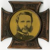 view Civil War Veterans Assn, Monroe Co., July 1913 [medal] digital asset: Civil War Veterans Assn, Monroe Co., July 1913 [medal].