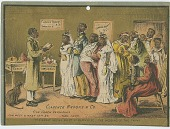 view [African-American double wedding : trade card] digital asset: [African-American double wedding : trade card]: undated