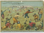 view [Calendar featuring African-Americans playing baseball] digital asset: [Calendar featuring African-Americans playing baseball, 1885?]