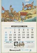 view Honeywell Calendar 1959 [illustrated calendar] digital asset: Honeywell Calendar 1959 [illustrated calendar].