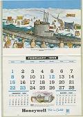 view Honeywell Calender 1959 [illustrated calendar] digital asset: Honeywell Calender 1959 [illustrated calendar].