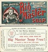 view Big Master Soap. [Advertising card.] digital asset: Big Master Soap. [Advertising card.]