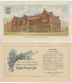 view The Boston Museum of Art. [Advertising card.] digital asset: The Boston Museum of Art. [Advertising card.]