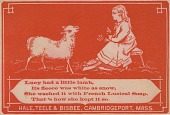 view Lucy had a little lamb.. [Advertising card.] digital asset: Lucy had a little lamb.. [Advertising card.]