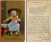 view At first, the infant, / Mewling and puking in the nurse's arms. [Advertising card.] digital asset: At first, the infant, / Mewling and puking in the nurse's arms. [Advertising card.]
