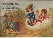 view Washoline, Manufactured by American Soap Co. [Advertising card.] digital asset: Washoline, Manufactured by American Soap Co. [Advertising card.]