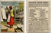 view Clean and white? - Well I uses David's Prize Soap... [Advertising card.] digital asset: Clean and white? - Well I uses David's Prize Soap... [Advertising card.]