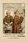view Cleanliness Is Next To Godliness. [Print advertising.] digital asset: Cleanliness Is Next To Godliness. [Print advertising.]