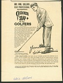 view Mr. Wm. Collins Golf Professional Recommends Cuticura Soap.. [Print advertising.] Collier's digital asset: Mr. Wm. Collins Golf Professional Recommends Cuticura Soap.. [Print advertising.] Collier's. 1895