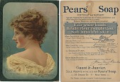 view Pears' Soap / The Very Best. [On front of card: with profile portrait of actress Mary Anderson] [Point-of-purchase display.] digital asset: Pears' Soap / The Very Best. [On front of card: with profile portrait of actress Mary Anderson] [Point-of-purchase display.] 1885.