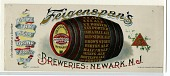 view Feigenspan's / Breweries: Newark, N.J. digital asset: Feigenspan's / Breweries: Newark, N.J. [advertisement, circa 1875-1900].