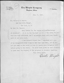 view [Orville Wright to William Hammer [letter] digital asset: [Orville Wright to William Hammer [letter]