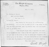 view [Orville Wright to William Hammer : letter] digital asset: [Orville Wright to William Hammer : letter].