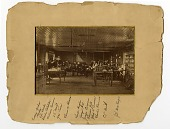view [Interior of Edison's laboratory, Menlo Park, New Jersey : black & white photoprint.] digital asset: [Interior of Edison's laboratory, Menlo Park, New Jersey : black & white photoprint.]