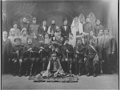 view [Cast of a play about Pasha, Turkish governor of Syria during WWI: b&w photoprint] digital asset: [Cast of a play about Pasha, Turkish governor of Syria during WWI: b&w photoprint]