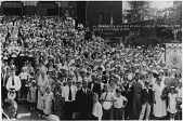 view Pilgrimage to Shrine of Our Lady of Consolation, Carey, Ohio, August 15, 1933 [black and white photoprint] digital asset: Pilgrimage to Shrine of Our Lady of Consolation, Carey, Ohio, August 15, 1933 [black and white photoprint].