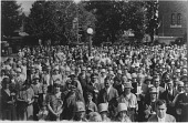 view Pilgrimage to Shrine of Our Lady of Consolation, Carey, Ohio, August 5, 1927 [black and white photoprint] digital asset: Pilgrimage to Shrine of Our Lady of Consolation, Carey, Ohio, August 5, 1927 [black and white photoprint].