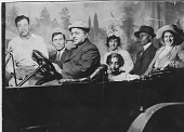 view [Maloley family in a car: black & white photoprint] digital asset: [Maloley family in a car: black & white photoprint].