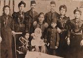 view [Joe Zainia and family: black & white photoprint] digital asset: [Joe Zainia and family: black & white photoprint].