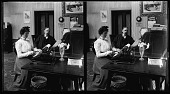 """view Typewriter 1. [""""Office romance,"""" from a series : stereo photonegative.] digital asset: Typewriter 1. [""""Office romance,"""" from a series : stereo photonegative.]"""