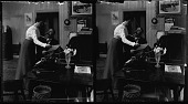 view Typewriter 3 [Office romance: stereo photonegative.] digital asset: Typewriter 3 [Office romance: stereo photonegative.]