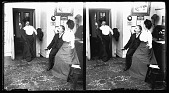 view Typewriter 4 [Office romance; secretary and boss are startled by boss's wife : stereoscopic photonegative.] digital asset: Typewriter 4 [Office romance; secretary and boss are startled by boss's wife : stereoscopic photonegative.]