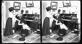 view Typewriter 5 [from office romance series : stereoscopic photonegative.] digital asset: Typewriter 5 [from office romance series : stereoscopic photonegative.]